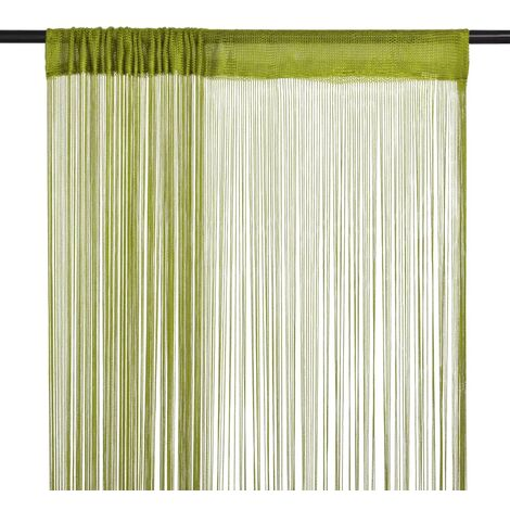 Cortinas de flecos 2 piezas 100x250 cm verde