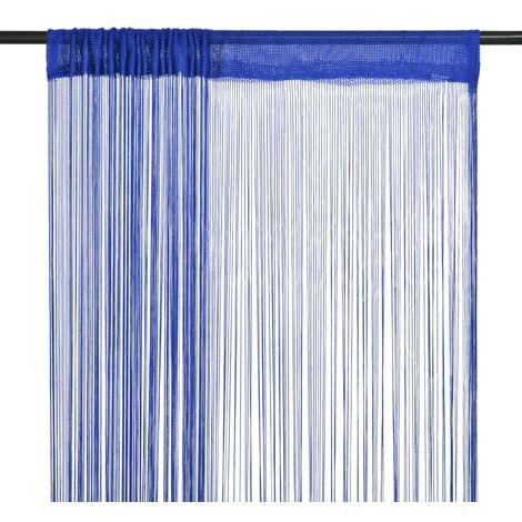 Cortinas de flecos 2 piezas 140x250 cm azul