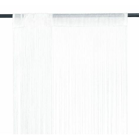 Cortinas de flecos 2 piezas 140x250 cm blancas