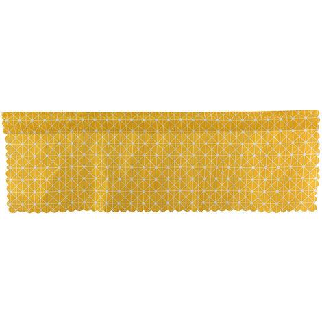 cortinas opacas a estilo cero, cortinas translucidas cortos, varillas 150 * 45 de malla C amarillo