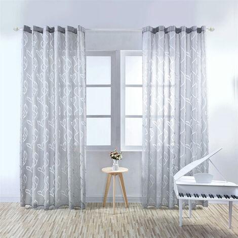 """Cortinas semi-shading corredera Patio cortina de puerta para la ventana de la sala puerta de patio, 79 """"X40"""", Grey"""