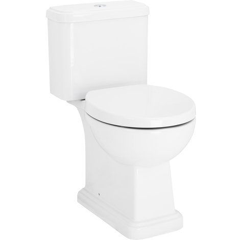 Corum Close Coupled Toilet with Soft Close Seat