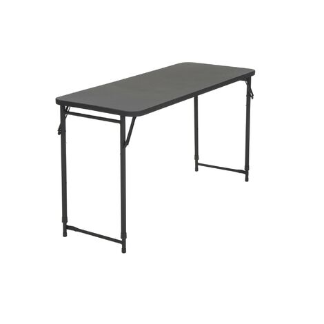 "COSCO Outdoor 20"" X 48"" Plastic Adjustable Top Folding BBQ Serving Table Black"