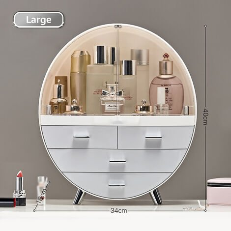 Cosmetic Storage Box Beauty Acrylic Desktop Transparent Makeup Storage 18*34*40cm grey