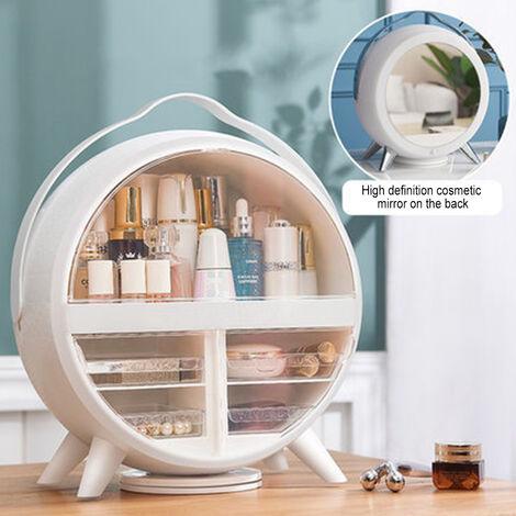 Cosmetic storage box Portable Makeup Organizer Cosmetic Storage Box Jewelry Containers white