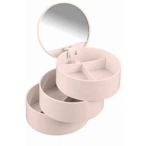 Cosmetic-Tower, 3 shelves/mirror, rose WENKO