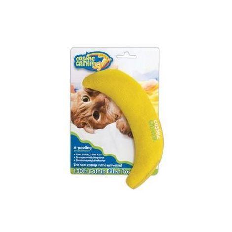 Cosmic Catnip 100% Catnip Filled Banana Toy (One Size) (Yellow)