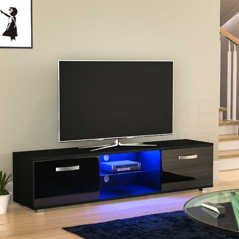 Cosmo 2 Door LED TV Unit, 160cm, Black