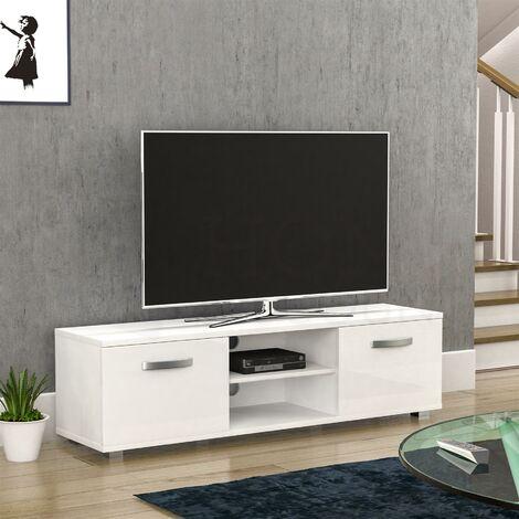 """main image of """"Cosmo 2 Door TV Unit, 140cm, White"""""""