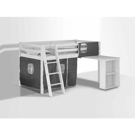 Cosmo Midsleeper with Pullout Desk and Tent - White