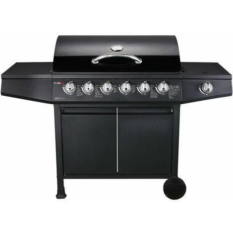 CosmoGrill ™ 6+1 Gas Burner Grill BBQ Barbecue W/ Side Burner & Storage