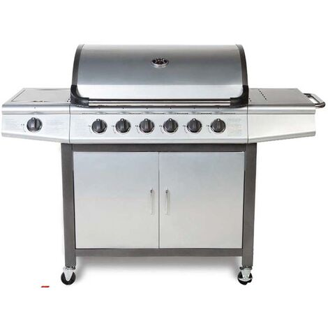 CosmoGrill barbecue 6+1 Pro Gas Grill BBQ (Silver)