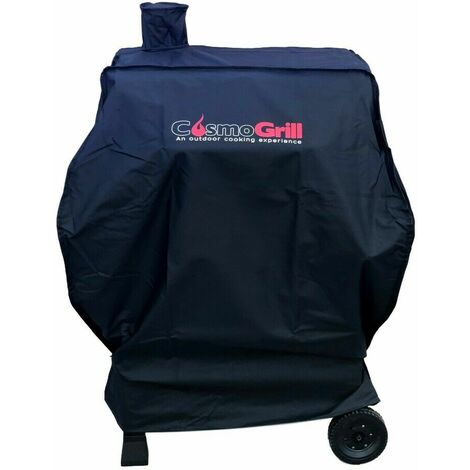 """main image of """"CosmoGrill Barbecue Cover Outdoor For CosmoGrill Smoker BBQ Oxford Cloth Waterproof Dust - Black"""""""