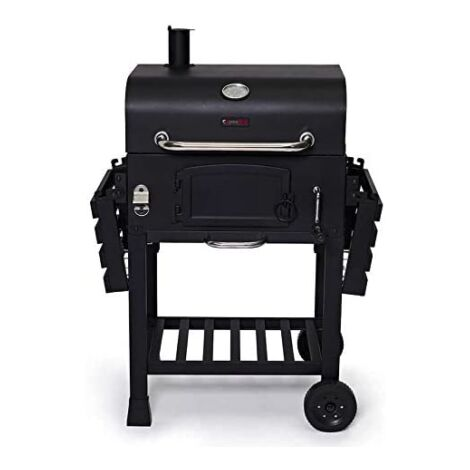 """main image of """"CosmoGrill Outdoor XL Smoker Barbecue Charcoal Portable BBQ Grill Garden - Black"""""""