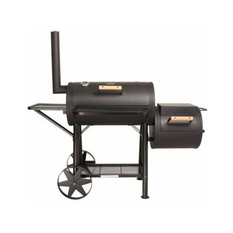 CosmoGrill Smoker 90KG XXL Barbecue with Temperature Gauge & Charcoal Barrel