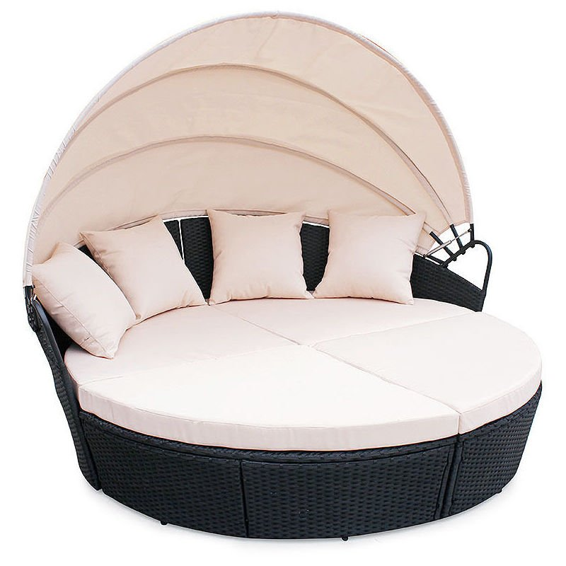 CosmoLiving Poly Rattan Furniture Day Bed Bali Outdoor ...