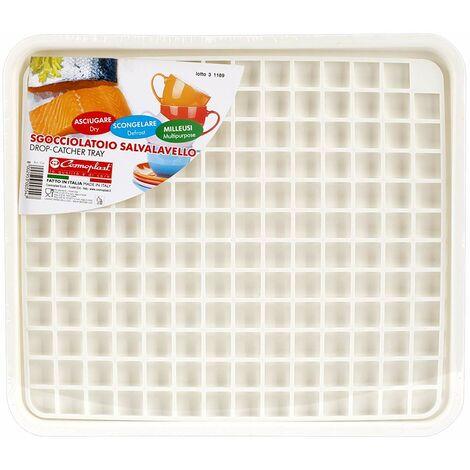 Cosmoplast Tapis d\'évier, Plastique, Blanc