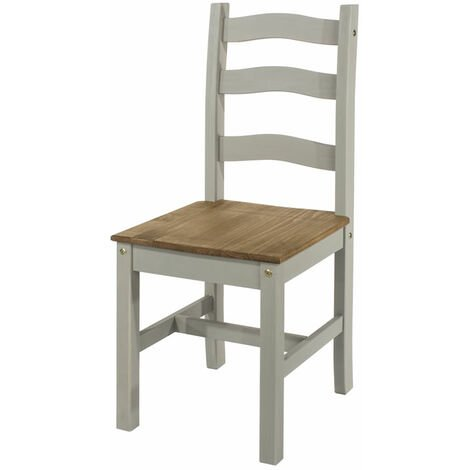 Coson Grey Waxed Solid Pine Kitchen Dining Chair Price Is Per Pair