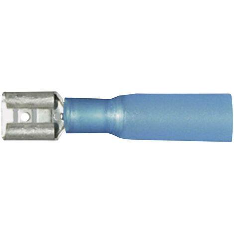 Cosse clip 6.3 mm x 0.8 mm Vogt Verbindungstechnik 3906h avec gaine thermorétractable 180 ° partiellement isolé bleu 1 pc(s) D23615