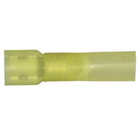 Cosse clip 6.3 mm x 0.8 mm Vogt Verbindungstechnik 3967sh entièrement isolé jaune 1 pc(s) D28778
