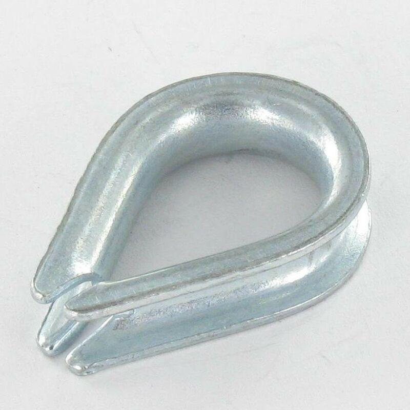 Vis Express - COSSE COEUR LEGERE POUR CABLE DE 10 ACIER ZING BLANC   Conditionnement: 10 pieces