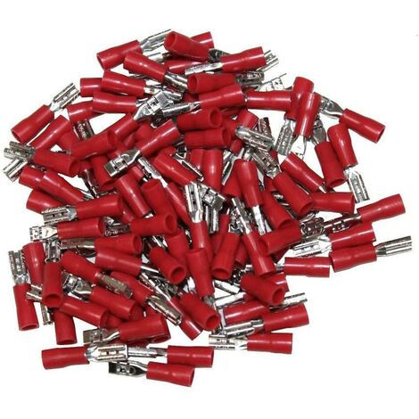 cosses electriques isolees a sertir femelles rouges 2 8. Black Bedroom Furniture Sets. Home Design Ideas