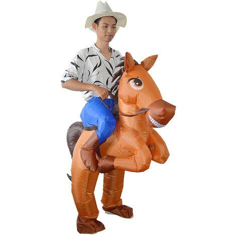 Costume gonfiabile da cavallo Blow Up Gonfiabile Fancy Dress Cosplay Party Puntelli per spettacoli teatrali per bambini Adulti