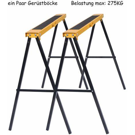 2x Klappbock 250 kg Ger/üstbock Ger/üst Bock Unterstellbock St/ützbock Klappb/öcke