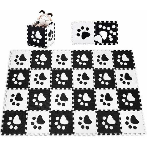 COSTWAY 24 Stueck Puzzlematte Spielmatte Kinderteppich Spielteppich Schaumstoffmatte Steckmatte Bodenmatte Kindermatte Schutzmatten 30x30cm