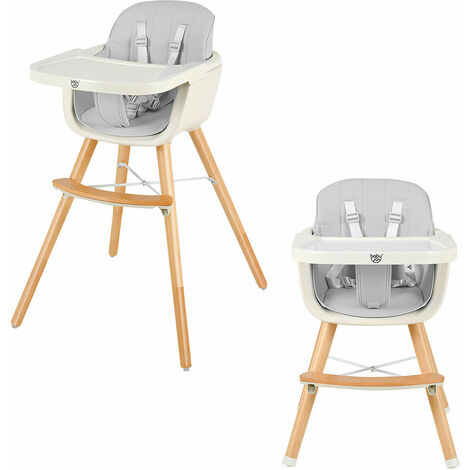 Costway 3 IN 1 Baby High Chair Infant Child Feeding Seat Highchair Food Tray Safety Belt