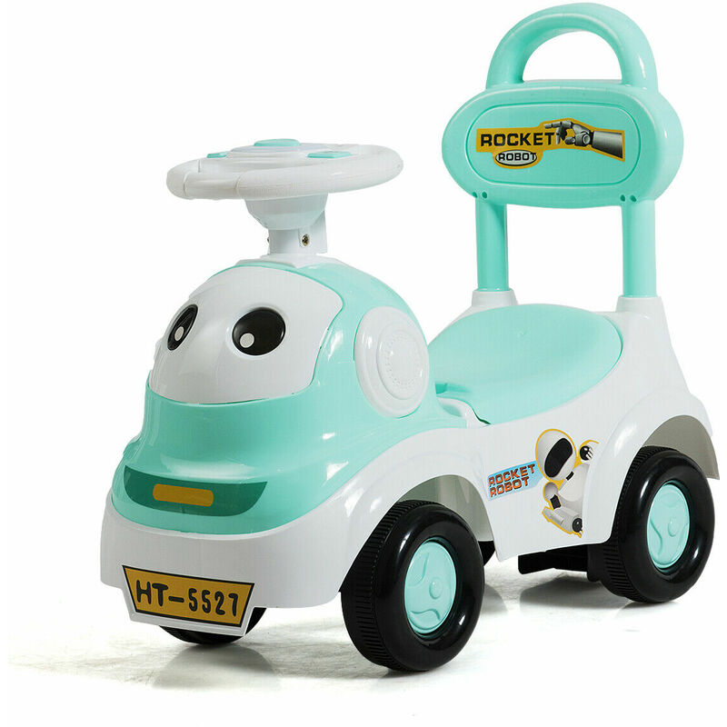 Image of 3 in 1 Kids Toddlers Baby Ride On Car Toy Walker Sliding Push Along Car Music - Costway