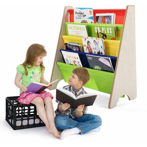 COSTWAY 4 Tier Kids Baby Bookshelf Magazine Rack Book Storage Display Organizer Holder