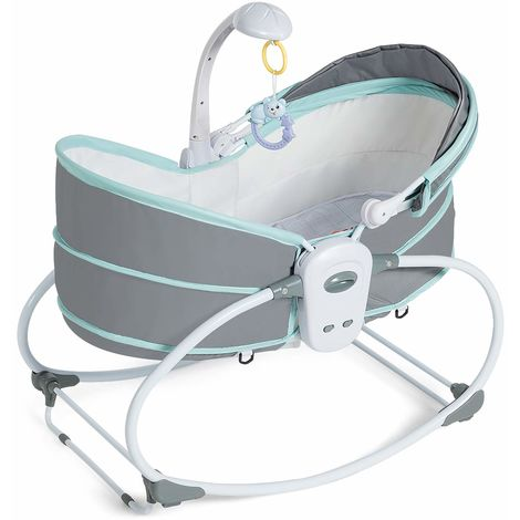 Elektrische Babywippe Babybett Wiege Vollautomatisch Babyschaukel Musik Wiege DE