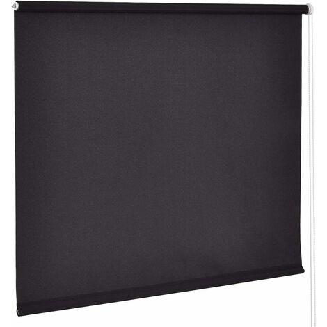 COSTWAY 55x150cm Store semi-transparent en rouleau pour fenêtre dans la salle/le bureau Design ?légant protection anti-rayons de soleil