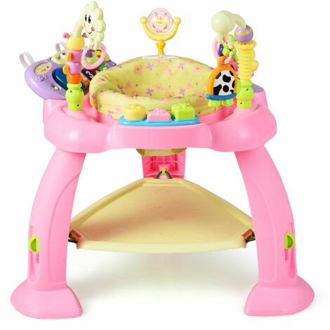 COSTWAY Adjustable Baby Activity Centre Infant Jump Chair Jumperoo Sit-to-stand Bouncer