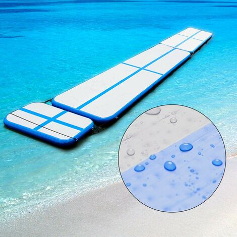 costway air track aufblasbar gymnastikmatte tumbling matte. Black Bedroom Furniture Sets. Home Design Ideas