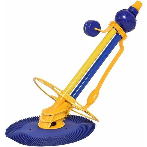 COSTWAY Aspirateur Piscine Aspirateur Automatique Nettoyeur Piscine Bleu 90 x 43 x 47cm