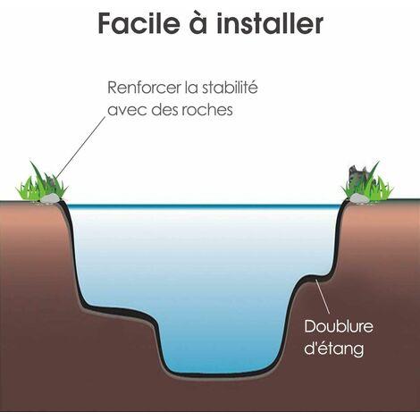 COSTWAY Bâche pour Bassin Jardin, Revêtement d'Etang en PVC 3x4m Épaisseur de 0,37 mm Respectueuse des Plantes
