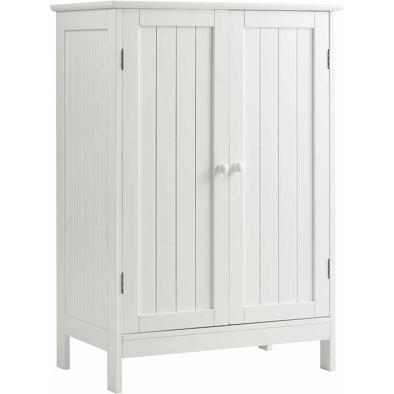 Costway Badezimmerschrank Kommode Sideboard Badschrank Verstellbarer Einlegeboden Schrank Badezimmer Aufbewahrungsschrank Weiss