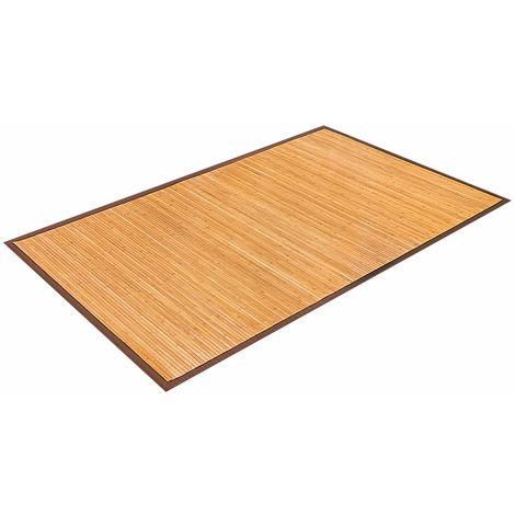 COSTWAY Bambusmatte Bambusteppich Bambus Laeufer Vorleger Teppich Fussmatte Wohnzimmer Kuechenteppich 150x240cm