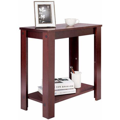 Costway Beistelltisch Holz Sofatisch Telefontisch