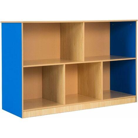 COSTWAY Bibliothèque, Étagère de Rangement avec 5 Compartiments Ouverts,Meuble pour Rangement de Livres, Jouets pour Salon, Chambre