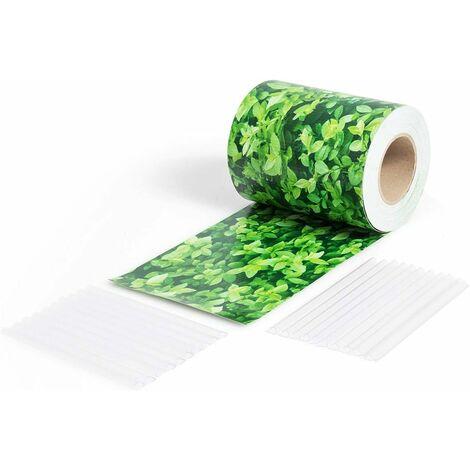 COSTWAY Brise Vue en PVC avec Clips de Fixation pour Jardin Protection de la Vie Privée (35M-450g/m², Feuille Verte)