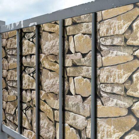 COSTWAY Brise Vue en PVC avec Clips de Fixation pour Jardin Protection de la Vie Privée (50M-450g/m², Roche)