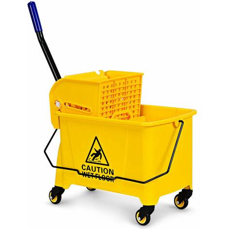 COSTWAY C Shape Industrial Side End Table Sofa Coffee Laptop Table Living Bedroom Wood