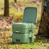 COSTWAY Campingtoilette Reisetoilette Mobile Toilette WC Tragbare Outdoor Toilette fuer Camping Reise Klo mit Abnehmbarem Abwassertank 20 L