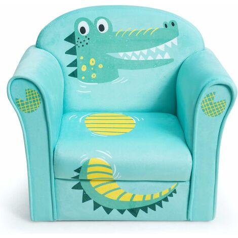 COSTWAY Canapé / Fauteuil pour Enfant, 4 Formes Mignon, Design Ergonomique, Dossier Confortable, Idéal pour Chambre, Salon etc.