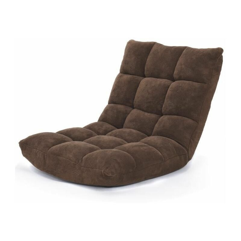 Canapé Paresseux Tatami Pliable Chaise de Plancher Coussin de Chaise de Lit Siège de Sol pour Maison, Bureau 105x56x15 CM - Costway