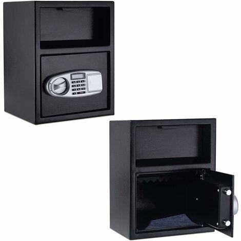 COSTWAY Coffre-Fort de Sécurité Électronique avec Clavier Numérique Electronique 34x30x45CM Noir pour Bureau, Hôtel et Magasin