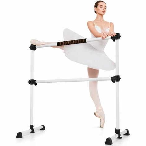 """main image of """"COSTWAY Double Ballet Stretch Barre Gymnastics Bar Portable Freestanding Dance Exercise"""""""